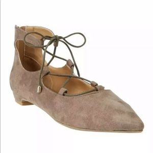 ODELL LEATHER-LIKE FLATS BY COMFORTVIEW